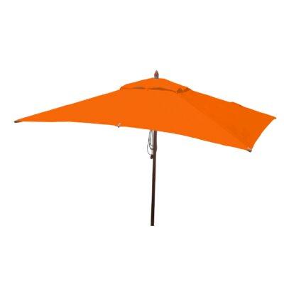 10 x 6.5 Sharon Mahogany Rectangle Market Umbrella Fabric: Orange