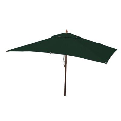 10 x 6.5 Sharon Mahogany Rectangle Market Umbrella Fabric: Forest Green