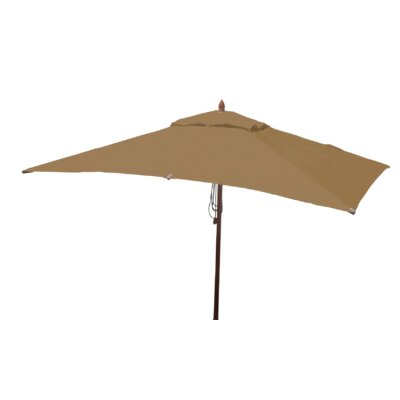 10 x 6.5 Sharon Mahogany Rectangle Market Umbrella Fabric: Beige