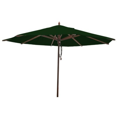 Shepley Mahogany Market Umbrella Fabric: Forest Green