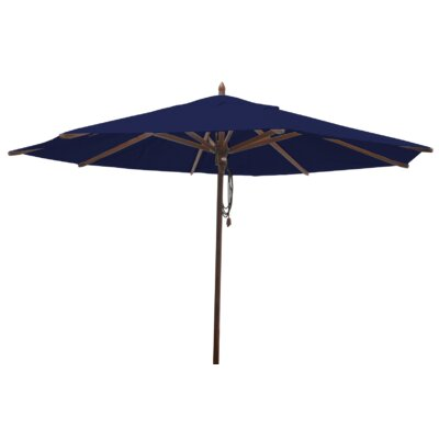 Shepley Mahogany Market Umbrella Fabric: Ocean Blue