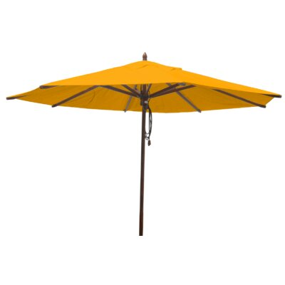 Shepley Mahogany Market Umbrella Fabric: Yellow