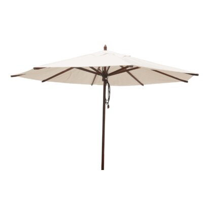 Shepley Mahogany Market Umbrella Fabric: Natural