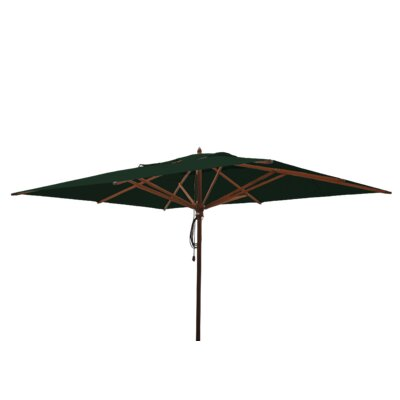 10 x 13 Mahogany Rectangular Market Umbrella Fabric: Forest Green