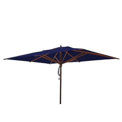 10 x 13 Mahogany Rectangular Market Umbrella Fabric: Ocean Blue