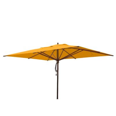 10 x 13 Mahogany Rectangular Market Umbrella Fabric: Yellow