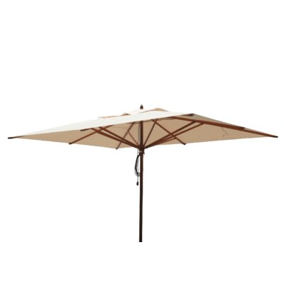 10 x 13 Mahogany Rectangular Market Umbrella Fabric: Natural