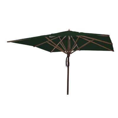 Sabanc 10 Simon Mahogany Square Market Umbrella Fabric: Forest Green