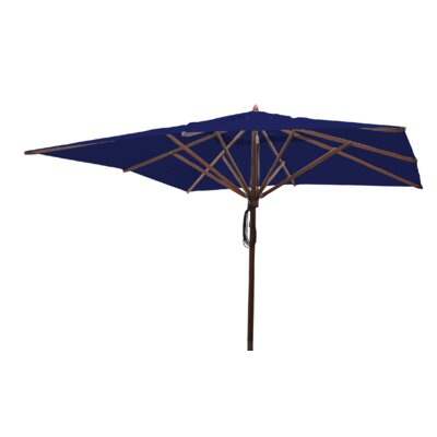 Sabanc 10 Simon Mahogany Square Market Umbrella Fabric: Ocean Blue