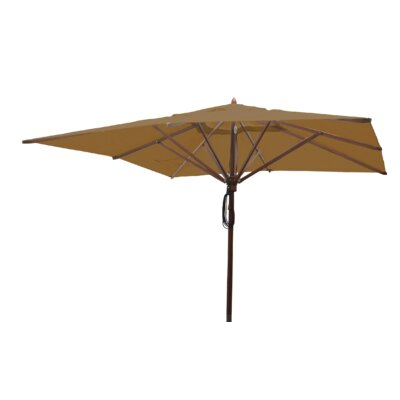 Sabanc 10 Simon Mahogany Square Market Umbrella Fabric: Beige