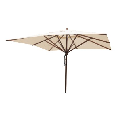 Sabanc 10 Simon Mahogany Square Market Umbrella Fabric: Natural