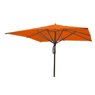 Sabanc 10 Simon Mahogany Square Market Umbrella Fabric: Orange