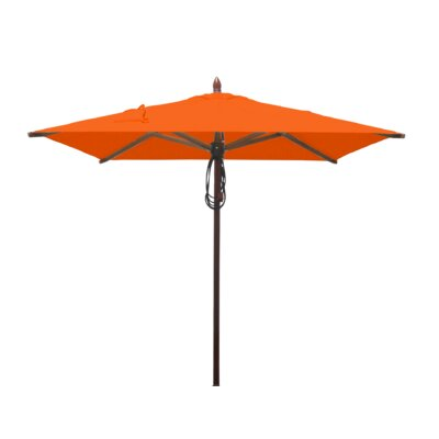 6.5 Smith Mahogany Square Market Umbrella Fabric: Orange