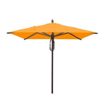 6.5 Smith Mahogany Square Market Umbrella Fabric: Yellow