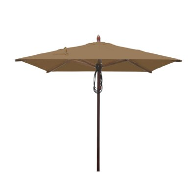 6.5 Smith Mahogany Square Market Umbrella Fabric: Beige