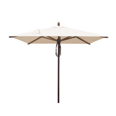 6.5 Smith Mahogany Square Market Umbrella Fabric: Natural