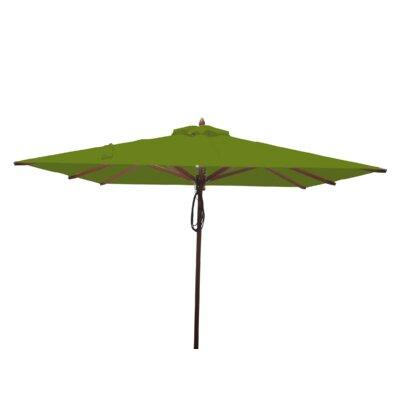 8 Smithshire Mahogany Square Market Umbrella Fabric: Olive Green