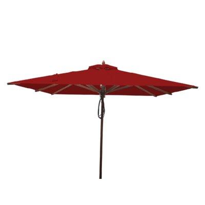 8 Smithshire Mahogany Square Market Umbrella Fabric: Jockey Red