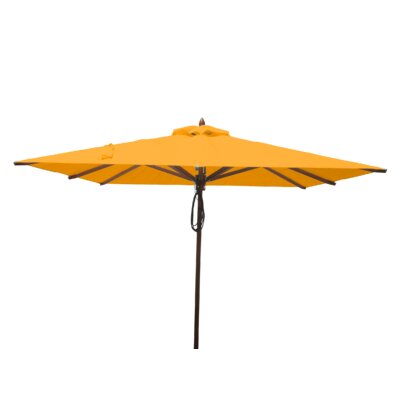 8 Smithshire Mahogany Square Market Umbrella Fabric: Yellow