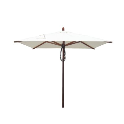 6.5 Square Market Umbrella Fabric: Natural
