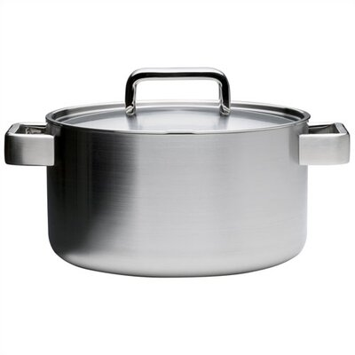 iittala Tools Round Stainless Steel 4 Qt. Casserole With Lid 1010462