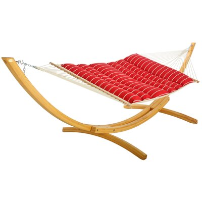 Pillowtop Polyester Hammock Color: Royal Red