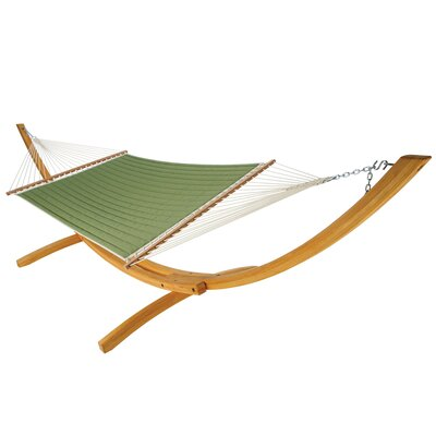 Large Quilted DuraCord Hammock Color: Canvas Turf