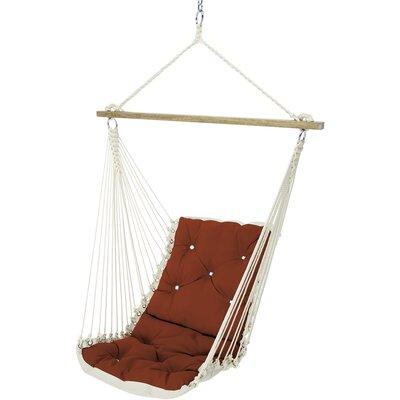 Tufted Single Sunbrella Chair Hammock Color: Jockey Red