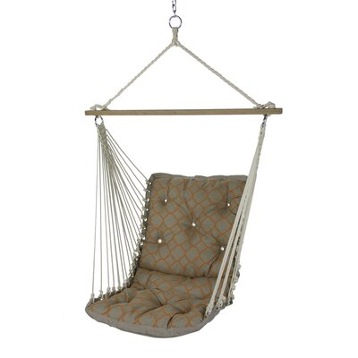 Tufted Single Sunbrella Chair Hammock Color: Accord Koi
