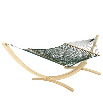 Large DuraCord Rope Cotton Tree Hammock Color: Meadow