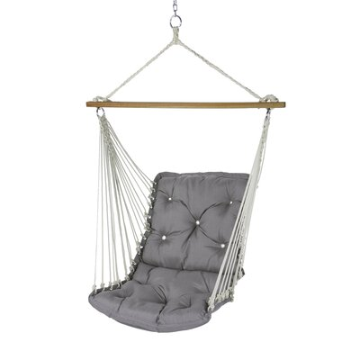Tufted Single Sunbrella Chair Hammock Color: Spectrum Dove