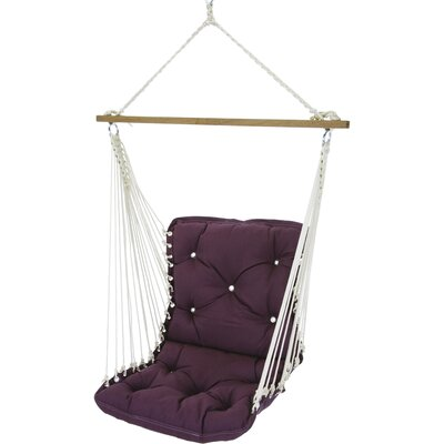 Tufted Single Sunbrella Chair Hammock Color: Canvas Iris