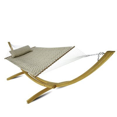 Latitude Run Laffey Large Soft Weave Polyester Hammock Color: Antique Beige