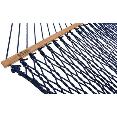 Large DuraCord Rope Cotton Tree Hammock Color: Navy