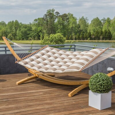 Image of Gloria Pillowtop Sunbrella Tree Hammock Color: Regency Sand