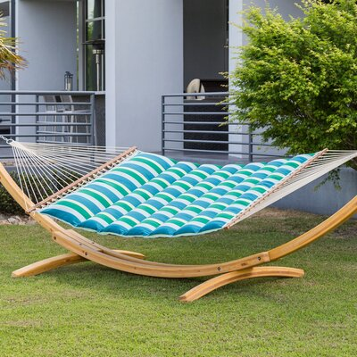 Image of Gloria Pillowtop Sunbrella Tree Hammock Color: Gateway Tropic