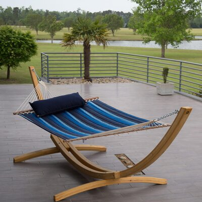 Image of Tamara Quilted Sunbrella Tree Hammock Color: Gateway Indigo