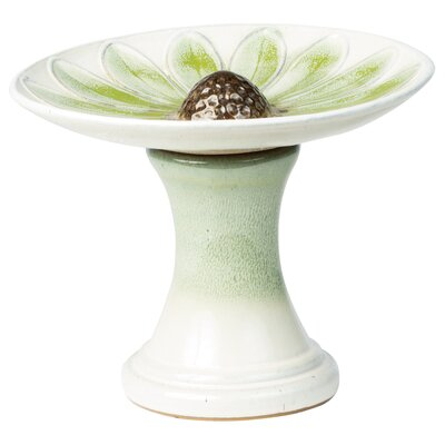 Daisy Birdbath Color: Green