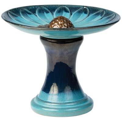 Daisy Birdbath Color: Navy