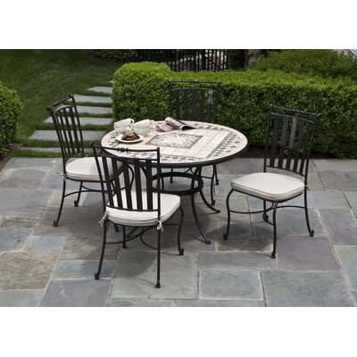 Alfresco Home Basilica Round Dining Table Set with Dining Side Chair Best Price