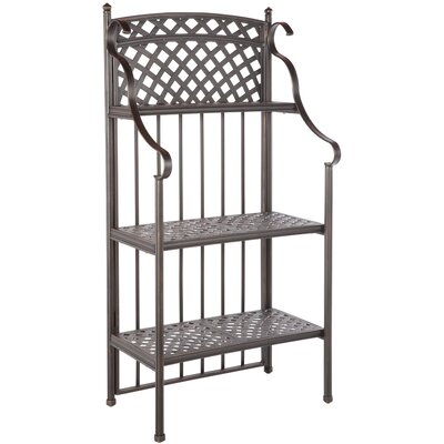 Greenwich Weave Bakers Rack in Antique Topaz