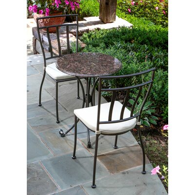 Ponza Granite 3 Piece Bistro Set with Cushions
