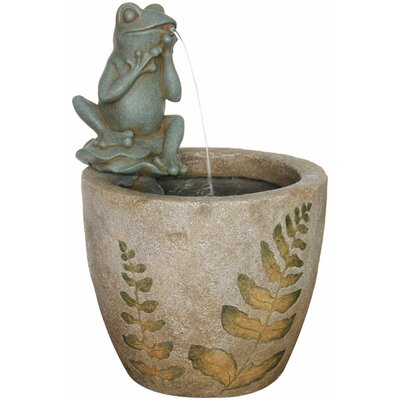 Image of 2 Piece Resin Piper Outdoor Fountain Set