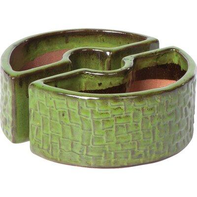 Stone Umbrella 2-Piece Pot Planter Set Color: Island Green