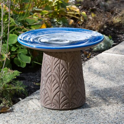 Nakoda Ceramic Birdbath Color: Sky Blue