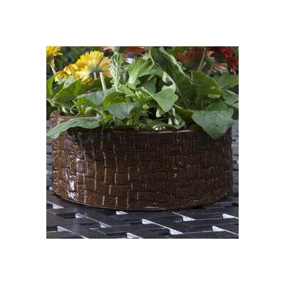 Stone Umbrella 2-Piece Pot Planter Set Color: Terra Brown