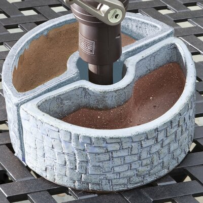 Stone Umbrella 2-Piece Pot Planter Set