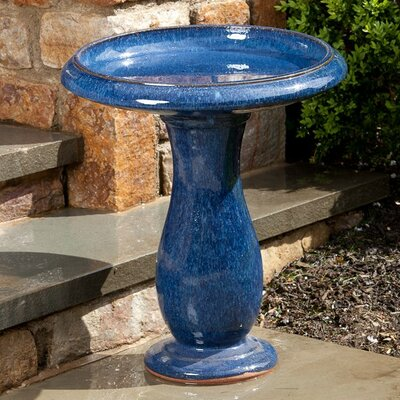Mayorca Birdbath Color: Snow Blue