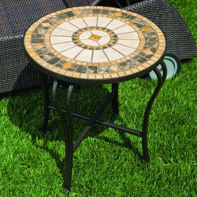 Compass Mosaic Side Table