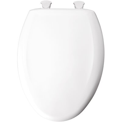 Slow-Close with Lift-Off Plastic Elongated Toilet Seat